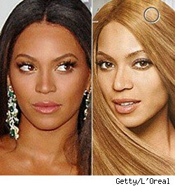 Beyonce Cellulite on Believe They Actually Lightened Beyonce S Color For This L Oreal Photo
