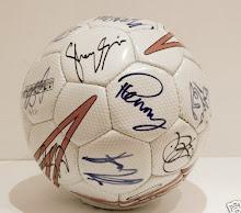 Football signed by Brian Kerr era Irish team