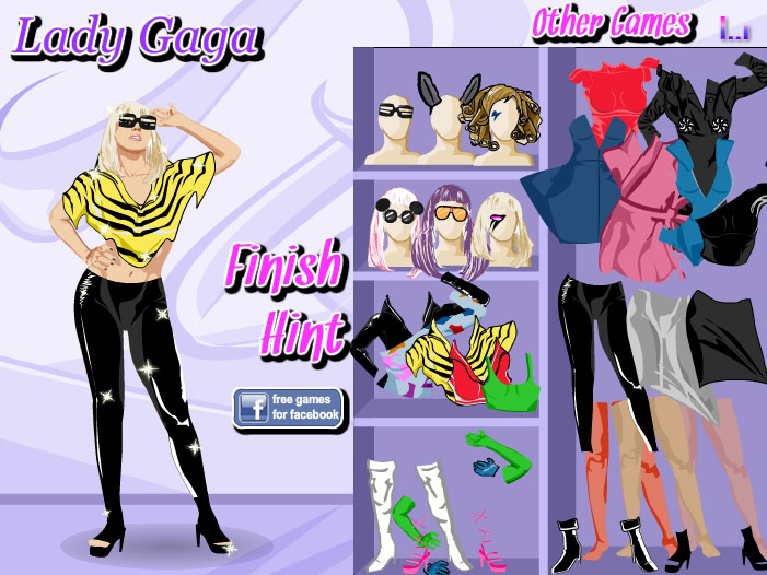 Lady Gaga 3.1 - Dress Up Game - Play online at Y8.com