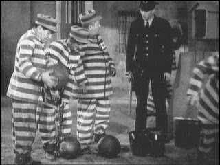 Image result for pics of the three stooges in prison stripes