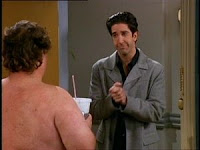 For those unfamiliar with the TV show 'Friends', that would be Ross and Ugly Naked Guy.