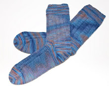 "The yarn color is ""jeans"" by Lorna's Shepherd sock yarn"