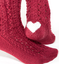 Burgundy Heart Clog Socks