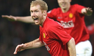 Scholes key become champion, scholes man united, manchester united player, manUtd midfielder, scholes celebration