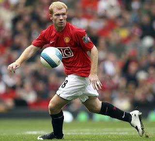 paul scholes award, scholes player of month, barclays player of month