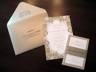 Plush Paper Design Blog: Laura & Dan : Wedding Invitations