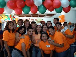 Docentes del Ambiente Nº 6 con Facilitadora María Ferreira