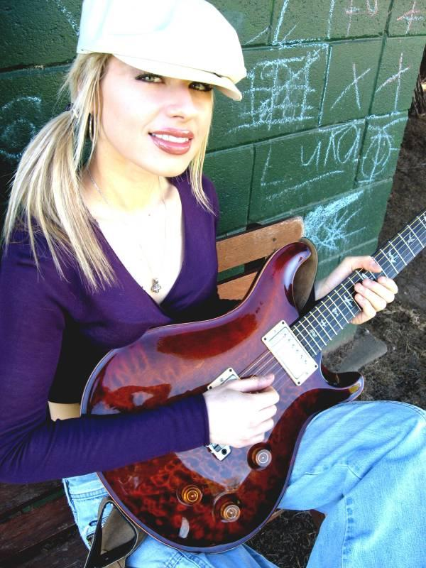 hot Orianthi Panagaris image with guitar