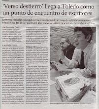 Presentación de la revista Verso destierro en la Librería Hojablanca
