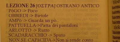 Ostra-Ostrano antico-dialetto