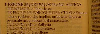 Ostra,Dialetto,Lezione 36