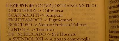 Ostra;Dialetto,Ostrano antico