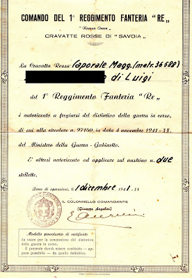 1941,onorificenza,caporale maggiore