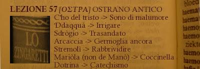 Ostra-dialetto ostrano-marchigiano, 57ma