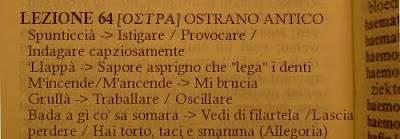 Dialetto,Ostrano antico