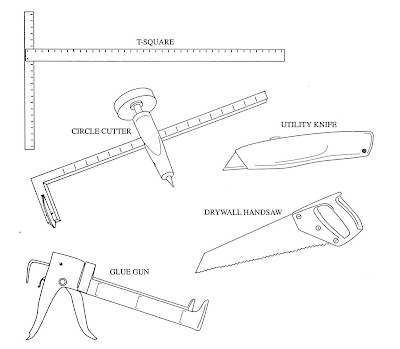 FIGURE 1-4 Tools needed for hanging drywall
