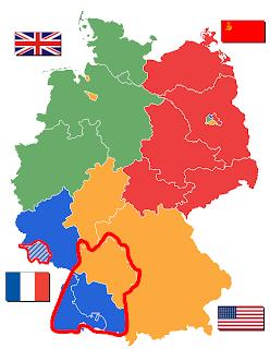 Germanujo okupata de Britujo, Francujo, Soveta Unio kaj Usono en 1945 kaj 1946