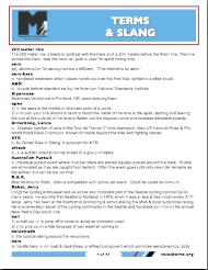 Cycling Skills: Cycling Terms and Slang