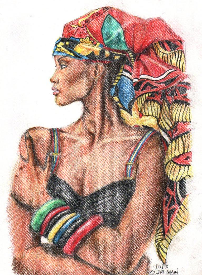 Black Women Afro Painting