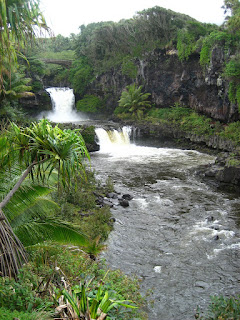 The Seven Sacred Pools at the end of the Hana Highway on Maui