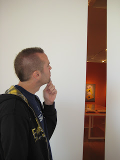 Noah contemplating abstract art or just a gap in the wall?