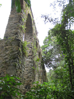 The old stone aqueduct on Ilha Grande