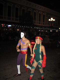 Vega and Cammy from Streetfighter in the Gaslamp Quarter