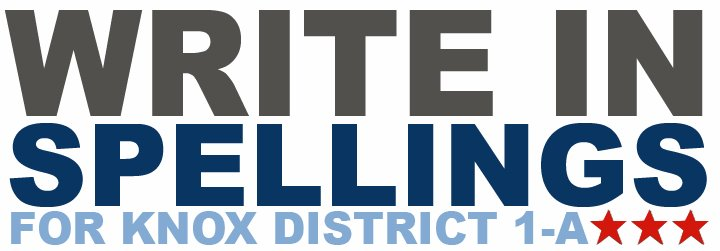 WRITE IN SPELLINGS for Knox County District 1A