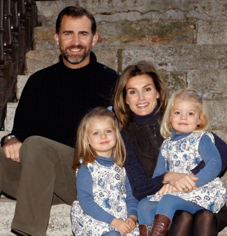 Felicitacion Navidena De Letizia Y Felipe Principes De Asturias