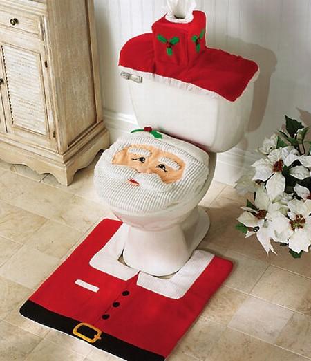 decorar baño navidad