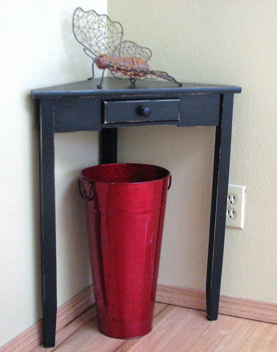 red entry table. Before \u0026 After -tiny Corner Table Red Entry D