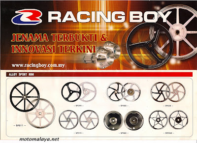 Racing Auto Parts on Motomalaya  Racing Boy Parts   Accessories Catalogue 2008