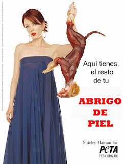 anti piel, peta, maltrato animal, Shirley Manson, abuso, antifur