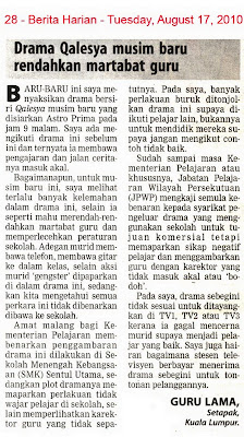 Kementerian Pelajaran senaraihitamkan syarikat penerbit drama Qalesya?