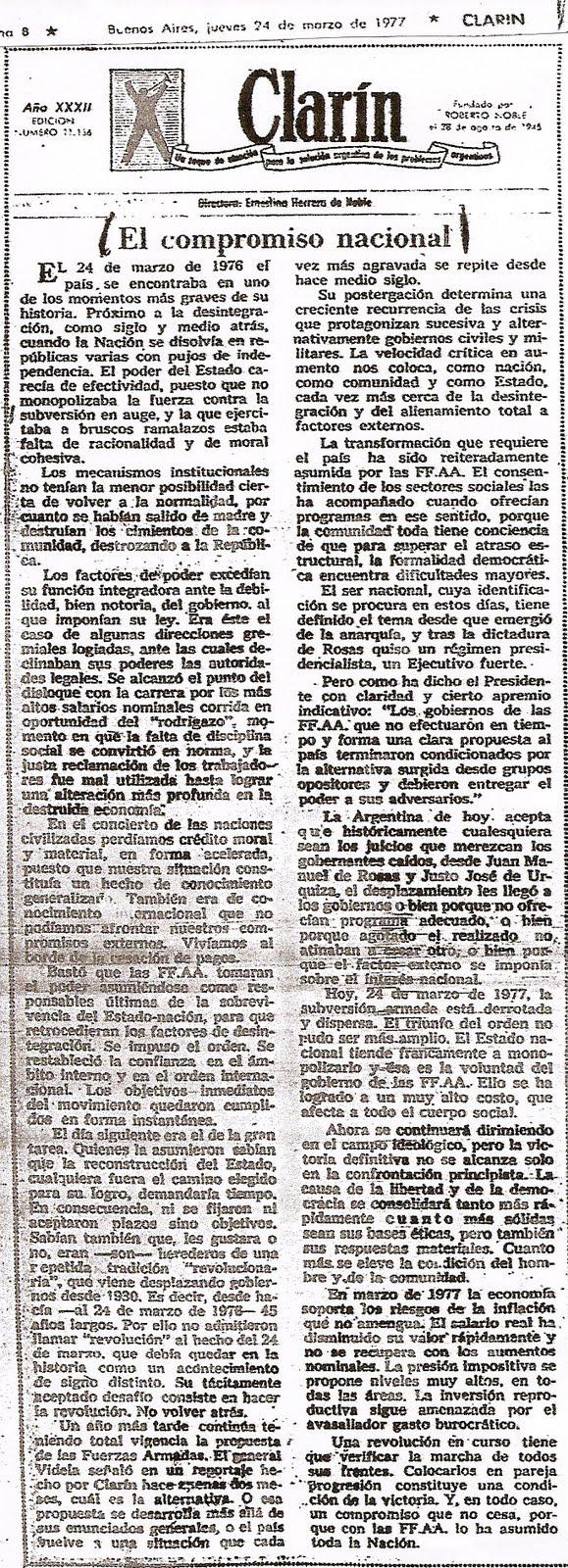 Editorial Clarín 1977