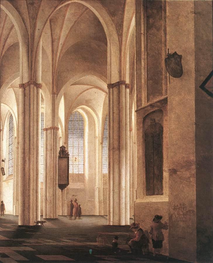 [The+Interior+of+the+Buurkerk+at+Utrecht_Pieter+Saenredam]