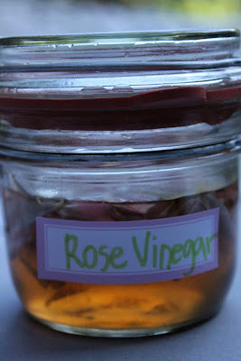 Rose petals in vinegar