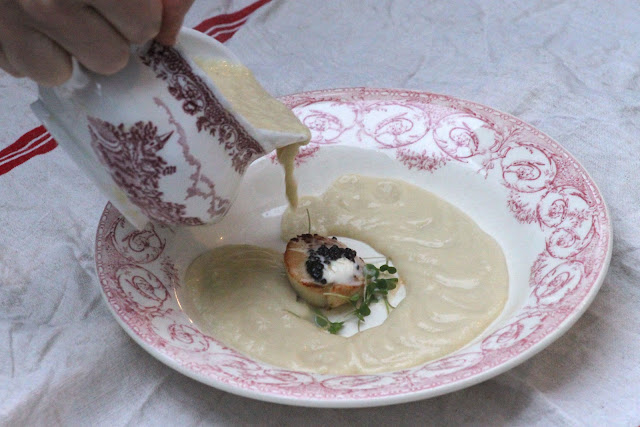 cauliflower soup, new years eve supper club