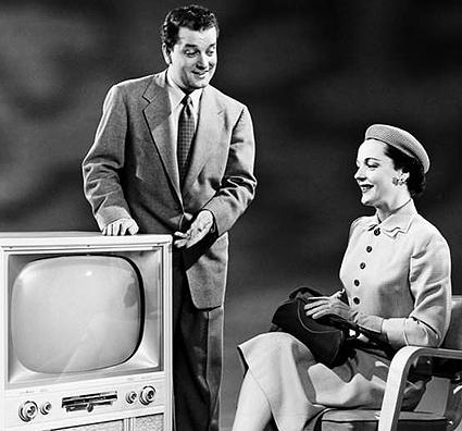 1955 Admiral 21-inch screen Black & White TV