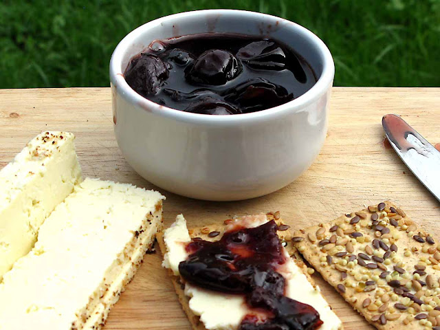 Damson pickle and cheese.