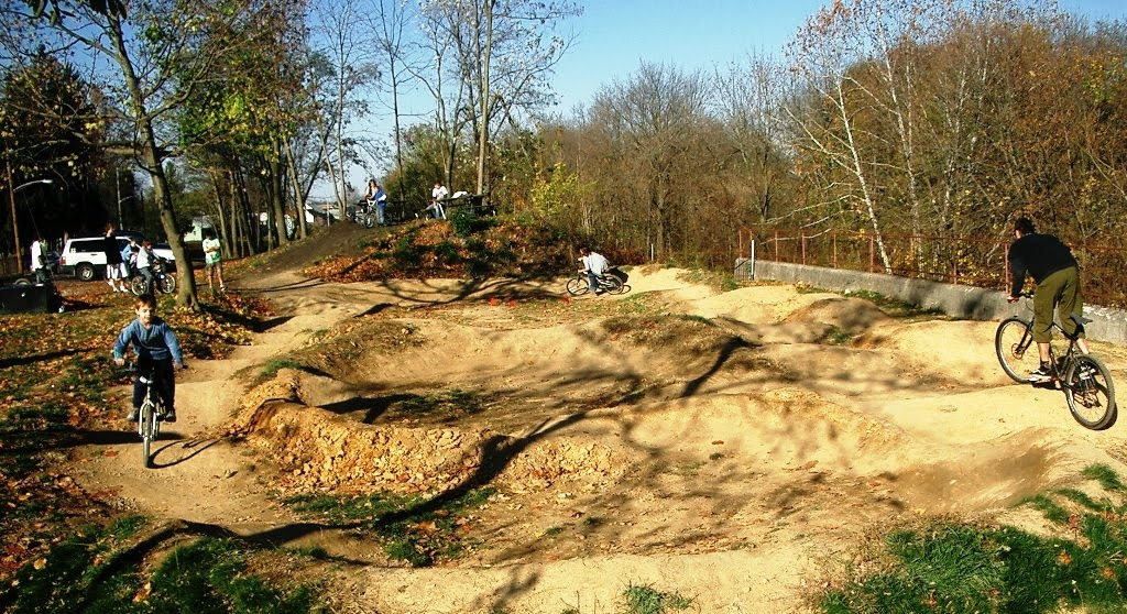 Cyclists of all ages can enjoy riding pump tracks.