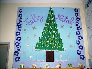 de Natal está à entrada da nossa sala, no Jardim de Infância
