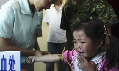 Blood sampling of a child