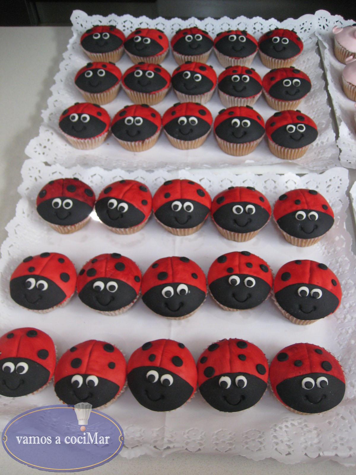Cupcakes mariquitas y cerditos | Vamos a Cocimar