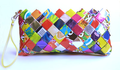 Ecoist candy wrapper hand bag