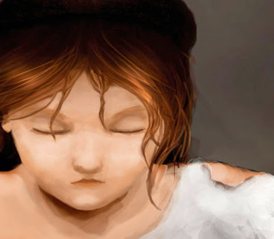 Cosette digital illustration by Lani Mathis inspired by Les Mis