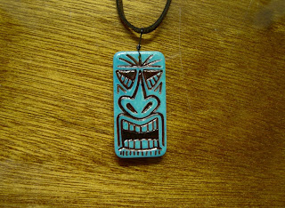 This is Wainani, one of our bone domino tiki pendants