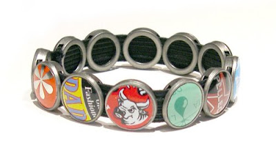 Recycled Bottle Cap Bracelet by Lani Mathis and Michael Ayers of GreenSpaceGoods