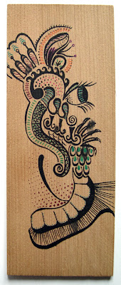 Doodle on wood by Lani Mathis of GreenSpaceGoods