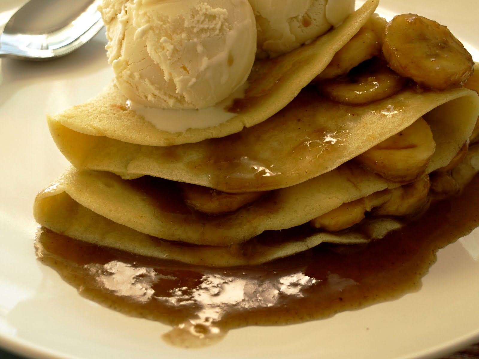 Bananas Foster Crepes Recipe — Dishmaps